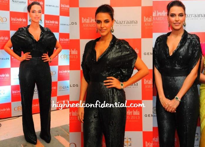 neha-dhupia-retail-jeweller-india-awards-2013-rohit-gandhi-rahul-khanna