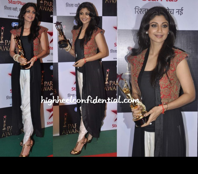 shilpa-shetty-star-pariwar-awards-2013-anamika-khanna