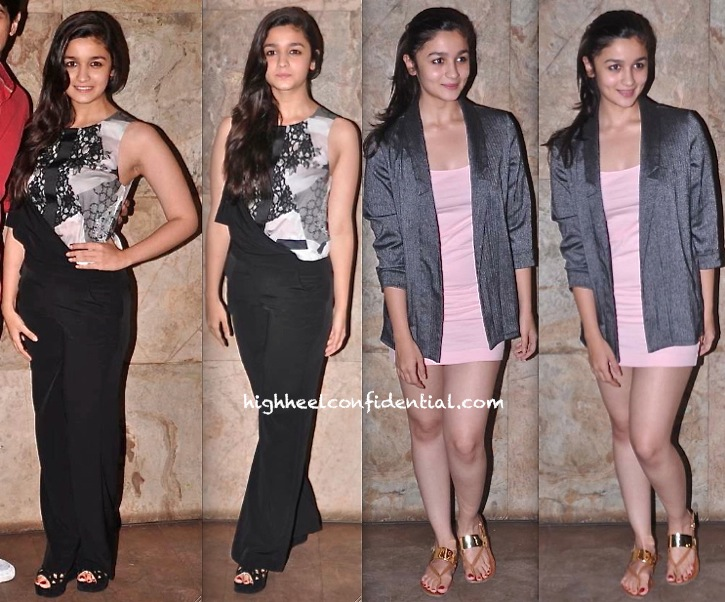Alia Bhatt At Ship of Theseus And D-Day Screenings