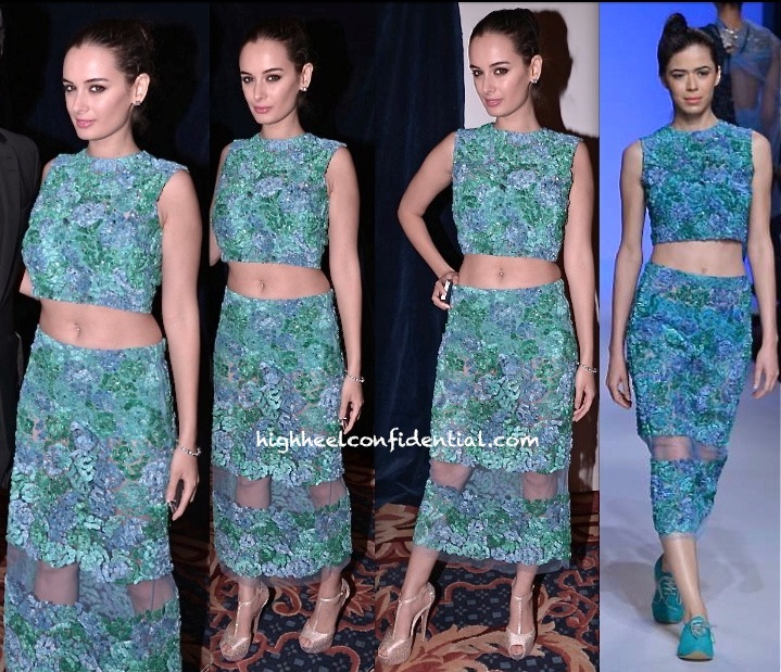Evelyn Sharma In Ilk By Shikha and Vinita At IIFA 2013 macau