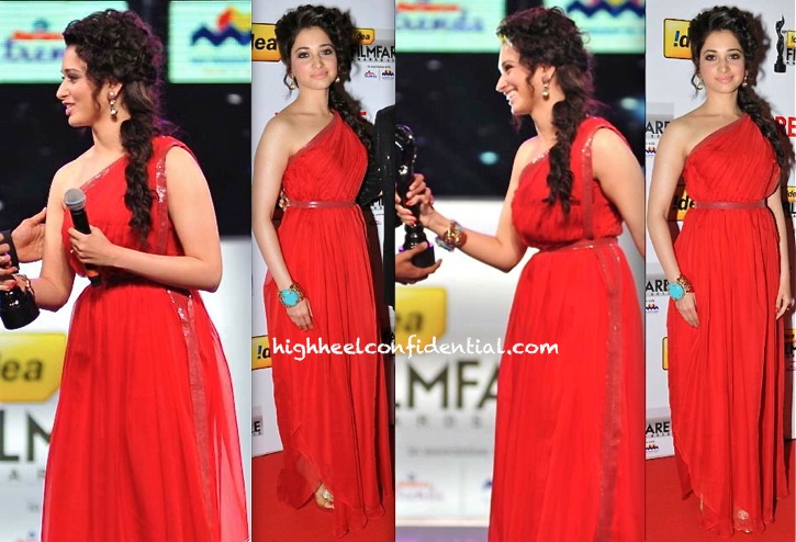 Tamannah At Filmfare South Awards 2013