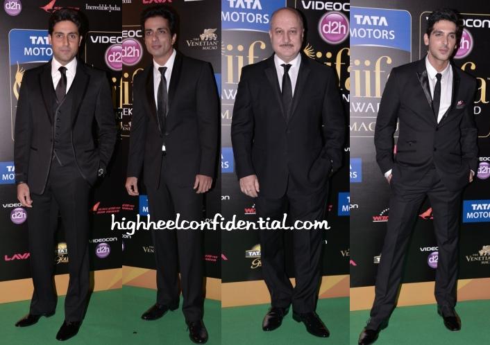 abhishek-bachchan-sonu-anupam-zayed-iifa-awards-2013
