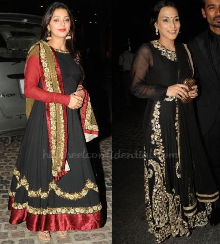 bhumika-aishwarya-dhanush-sabyasachi-filmfare-south-awards-2013
