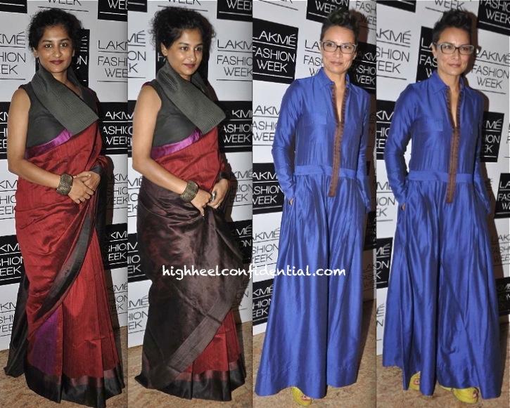 Adhuna Akhtar And Gauri Shinde In Payal Khandwala At Lakme Fashion Week