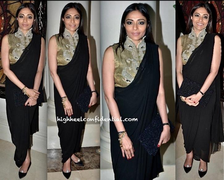 Kalyani Saha Chawla At PCJ Delhi Couture Week 2013 In Anamika Khanna