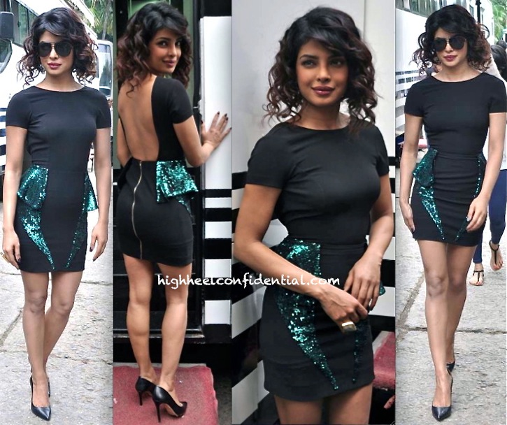 Priyanka Chopra In Monisha Jaising On Jhalak Dikhla Jaa Sets-2
