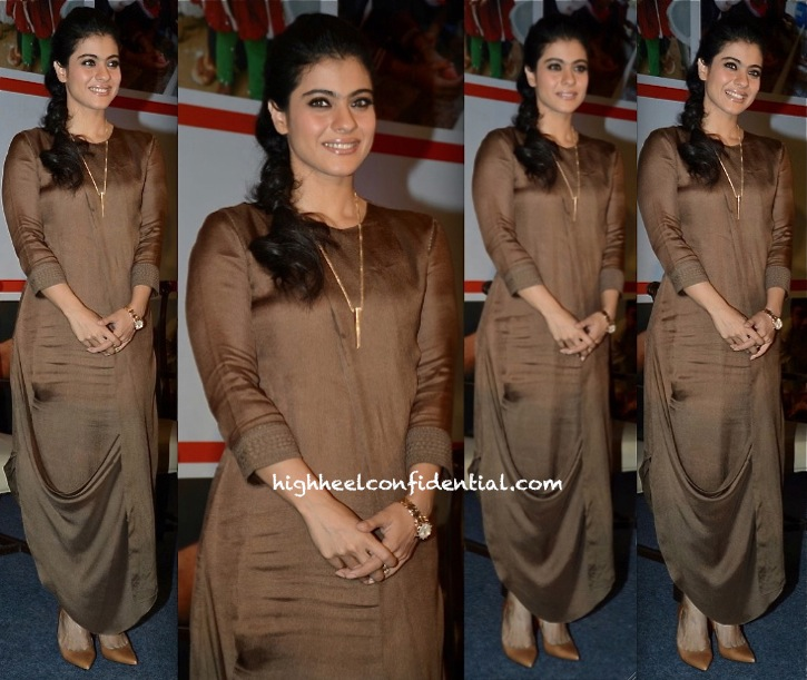 kajol in am pm by ankur and priyanka modi dress at Help A Child Reach 5 campaign event-1