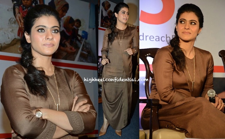 kajol in am pm by ankur and priyanka modi dress at Help A Child Reach 5 campaign event-2