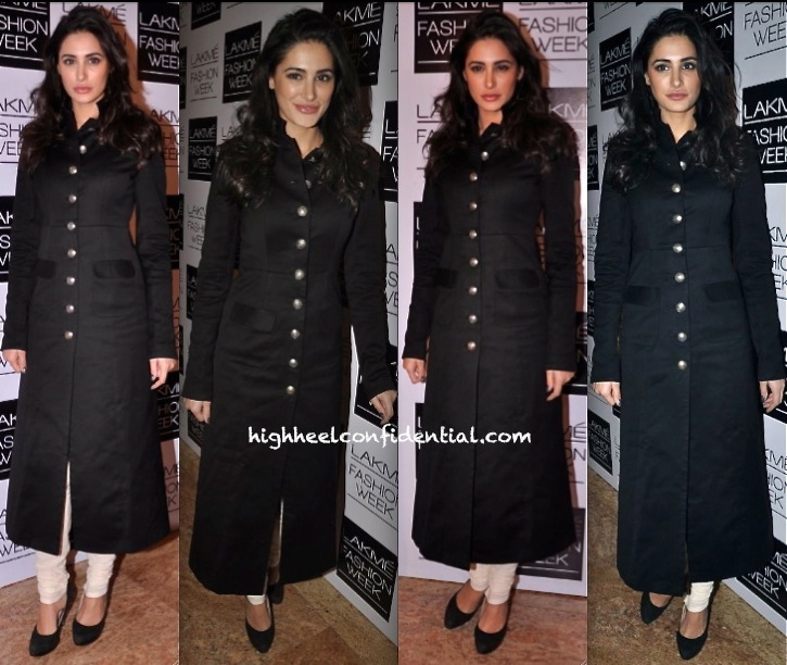 nargis fakhri in sabyasachi at his show at lfw winter festive 2013