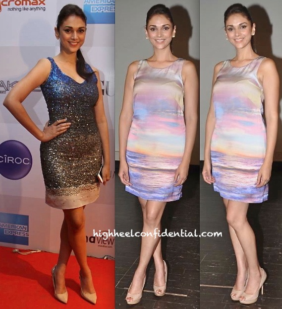 Aditi Rao Hydari In Siddartha Tytler At Vogue's FNO And In Forever New At A Teacher's Day Event