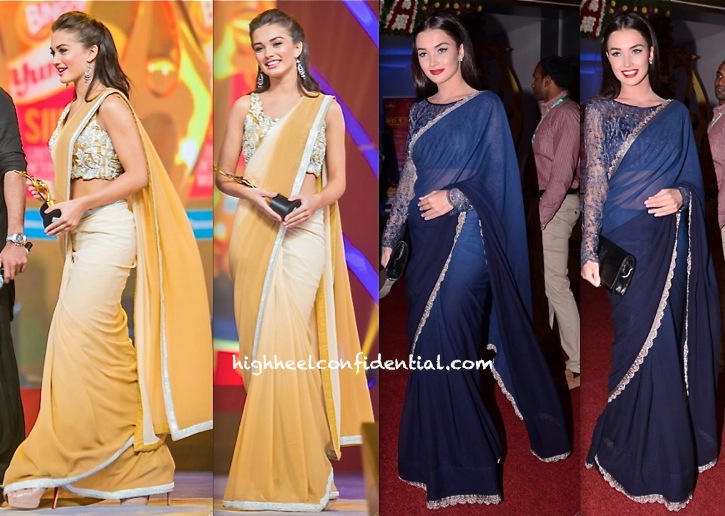 Amy Jackson On Day One In Neeta Lulla And Day Two In Alpana And Neeraj Of SIIMA 2013-1