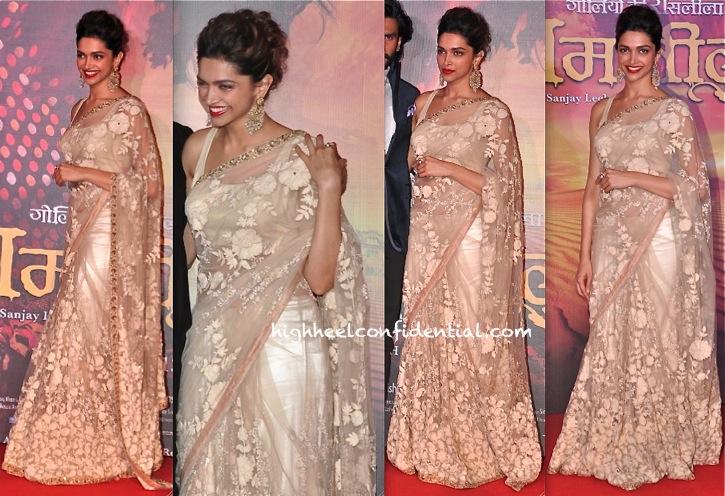 Deepika Padukone In Sabyasachi At Ramleela Trailer First Look Launch-1