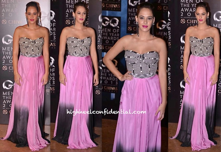 Hazel Keech In Swapnil Shinde At GQ Men Of The Year Awards 2013