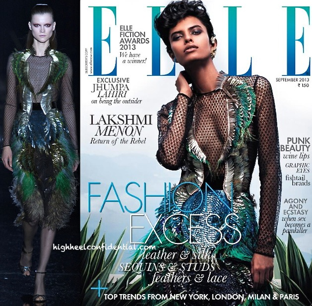 Lakshmi Menon In Gucci Fall 2013 Is Elle's Cover Girl This September