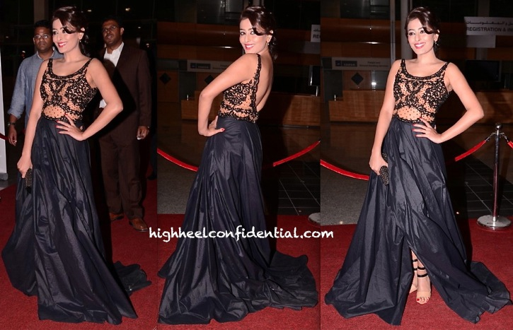 Nidhi Subbaiah Wears Rocky S Again On Day Two Of SIIMA 2013