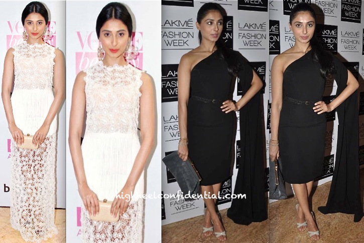 Pernia Qureshi At Vogue Beauty Awards 2013 In Ermanno Scervino And At Lakme Fashion Week 2013 in Nikhil Thampi