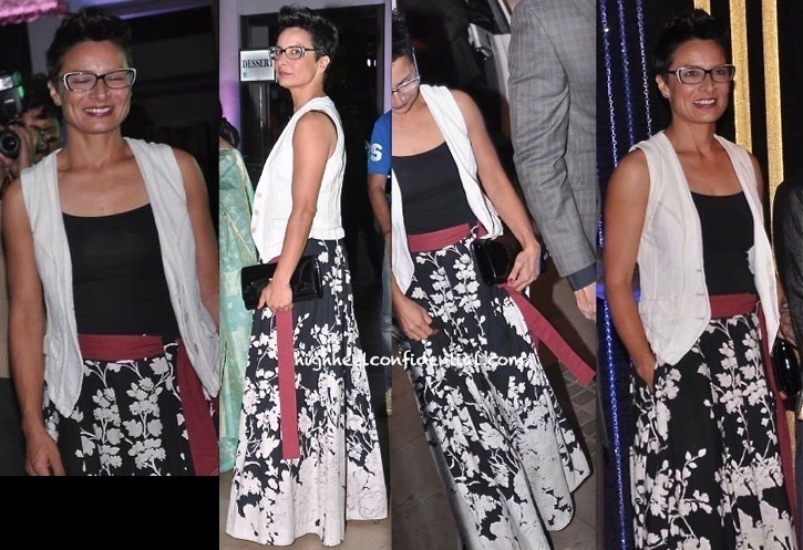 adhuna akhtar at rakesh roshan birthday vash in sabyasachi