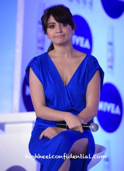 anushka sharma at a nivea event in blue dress by oh my love-2