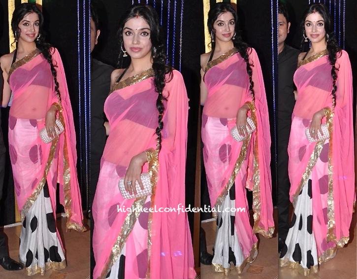 divya khosla kumar in masaba sari at rakesh roshan birthday