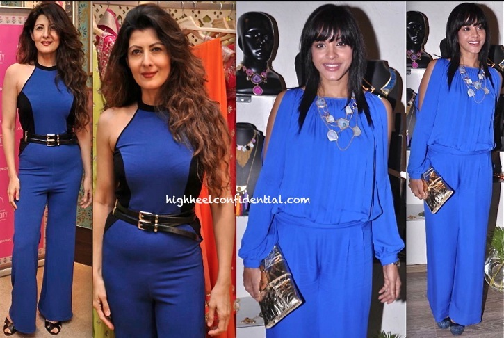 sangeeta bijlani in and jumpsuit at pinkcity launch and manasi scott in gauri and nainika at atosa event