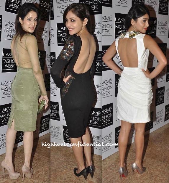 shriya saran-pooja chopra-sagarika ghatge-rajat tangri-lakme fashion week winter festive 2013-2