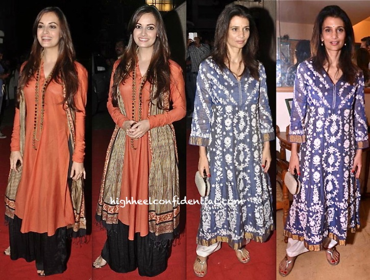 Dia Mirza And Rhea Pillai At Roopa Vohra and Raveena Tandon Jewelry Launch