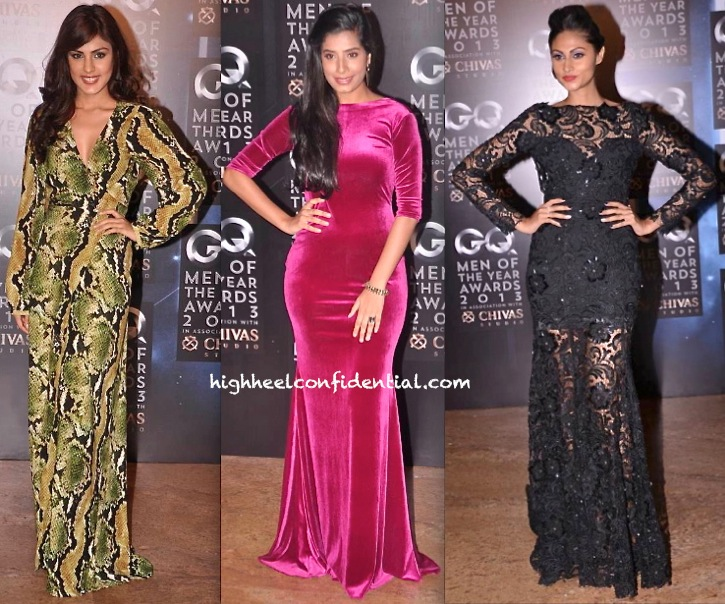 GQ Men Of The Year Awards 2013-Rhea Chakraborty In Deme by Gabriella Gaelyn Mendonca In Harsh Harsh And Karishma Naina In Rajat Tangri-1