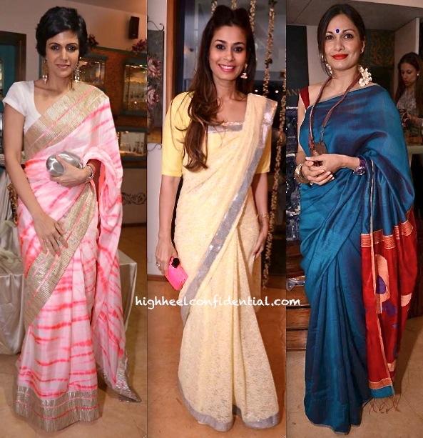 Mandira Bedi, Maria Goretti And Shaheen Abbas At Roopa Vohra and Raveena Tandon Jewelry Launch-2
