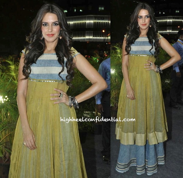 Neha Dhupia In Urvashi Kaur At MCHI-CREDAI Property 2013 Event-1