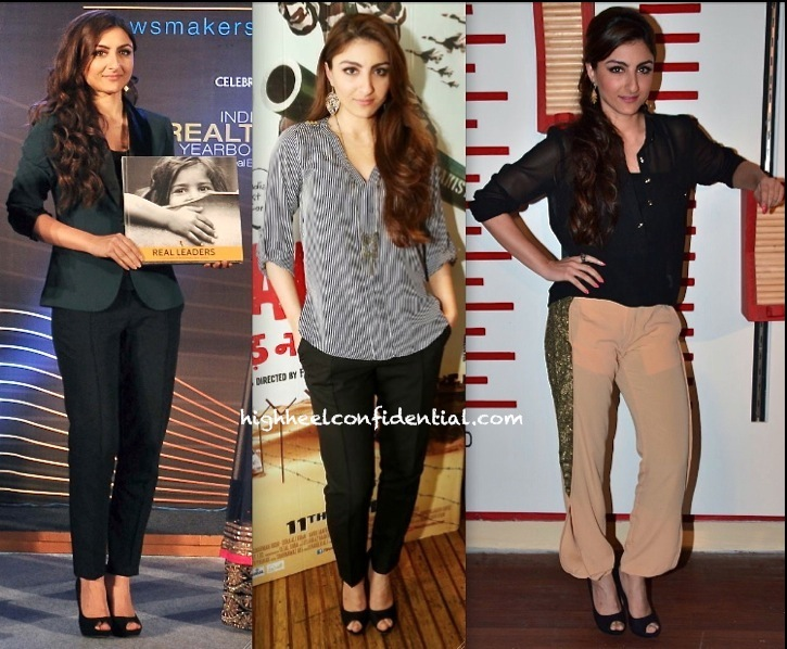 Soha Ali Khan At 'War Chod Na Yaar' Promotions And At Indian Realty Yearbook Launch