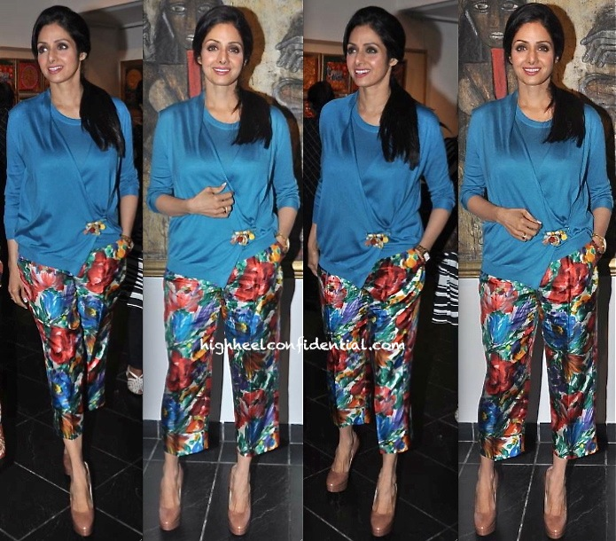 Sridevi At An Art Exhibition-1