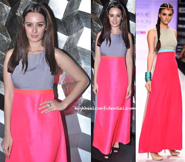 evelyn sharma in payal singhal at lofficiel magazine launch issue unveiling bash