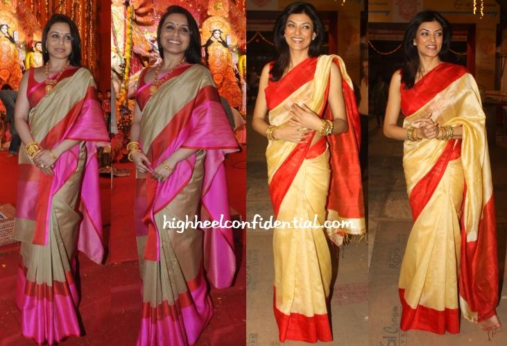rani-mukherjee-sushmita-sen-durga-puja-celebrations
