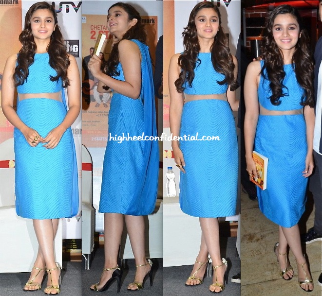 Alia Bhatt In Rohit Gandhi + Rahul Khanna At '2 States' Book Launch-1