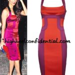 malaika-arora-karen-millen-red-dress