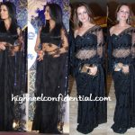 celina-jaitley-laila-khan-black-lace-saris