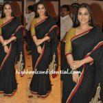 vidya-balan-seminar-black-sari