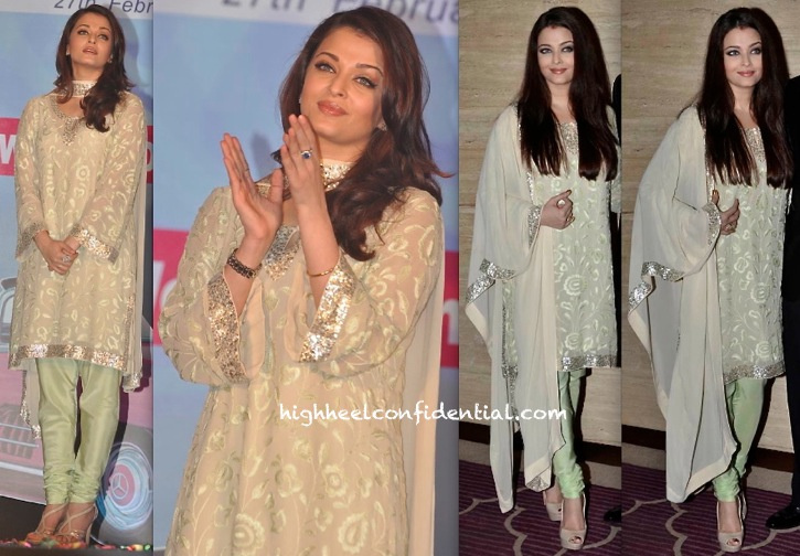 Aishwarya Rai Bachchan In Abu Sandeep At Asin Birthday Bash-1