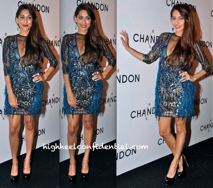 Anusha Dandekar In Falguni And Shane Peacock At Chandon Event