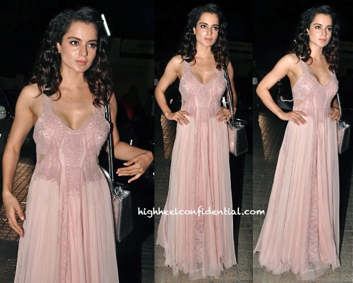 Kangna Ranaut In Geisha Designs At Krrish 3 Screening-2