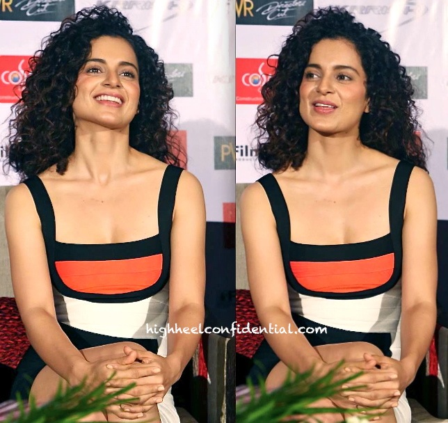 Kangna Ranaut Wears Herve Leger While In Delhi For Krrish 3 Promotions-2