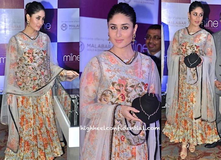 Kareena Kapoor In Anamika Khanna At 'Malabar Gold and Diamonds' Press Meet-1