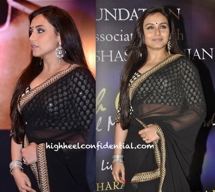 Rani Mukherjee In Sabyasachi At Yash Chopra National Memorial Awards-2