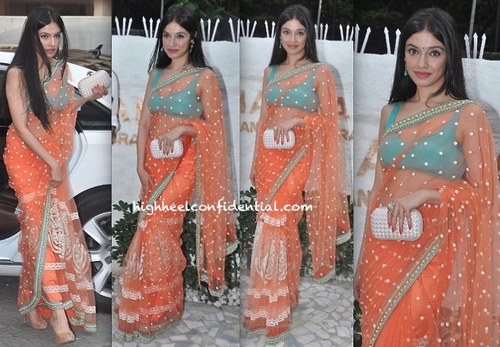 divya khosla kumar in sabyasachi at alvira khan store launch