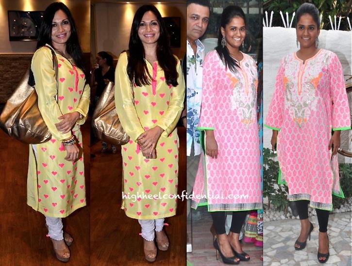 maria goretti at shiamak davar show and arpita khan at alvira khan store launch