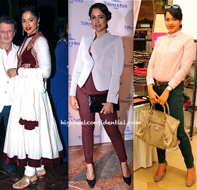 sameera reddy at araish 2013-villeror and boch event and at rohit bal for biba mumbai launch
