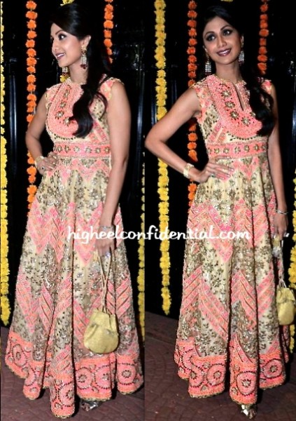 shilpa shetty at ekta kapoor diwali bash 2013 in abu sandeep
