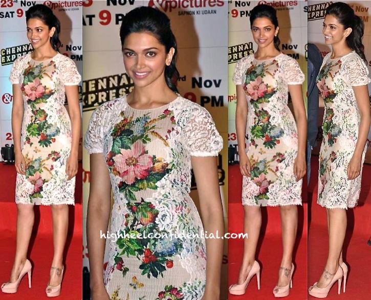 Deepika Padukone In Dolce & Gabbana At 'Chennai Express' Success Bash-2
