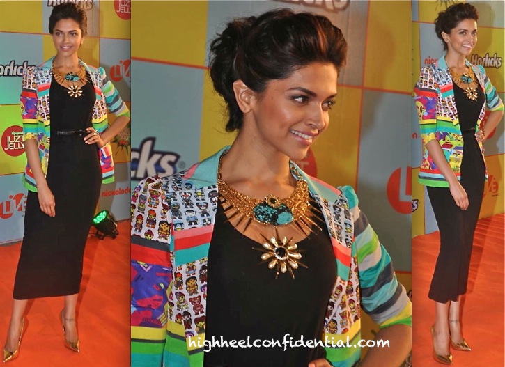 Deepika Padukone In Quirk Box At Nickelodeon India Awards 2013-1