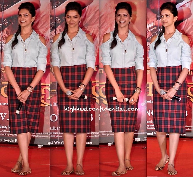 Deepika Padukone In Zara At 'Ram Leela' Promotion-1